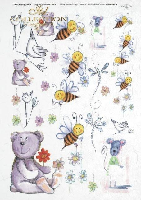 dziecięcy, dzieci, miś, misio, misie, pszczółka, pszczółki, ważka, ważki, ptaszek, ptaszki, Dorota Marciniak, R088
