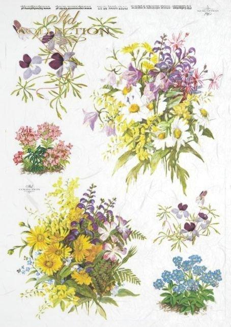 decoupage-rice-paper-flowers-garden-bouquet-daisies-forget-me-nots-R0121