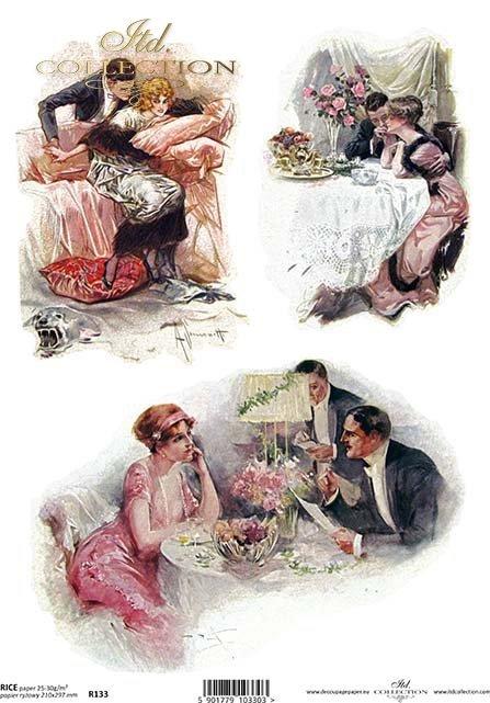 decoupage-randka-zakochani-kochankowie-miłość-schadzka-rendez-vous-retro-vintage-R0133