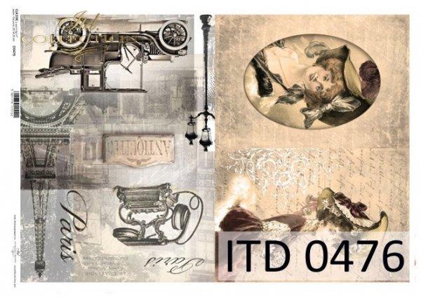 бумага для декупажа классическая D0476