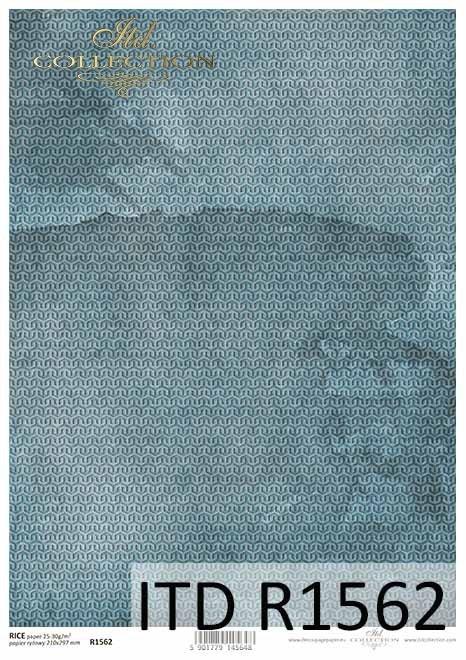 Papier decoupage niebieskie tło*Blue decoupage paper background