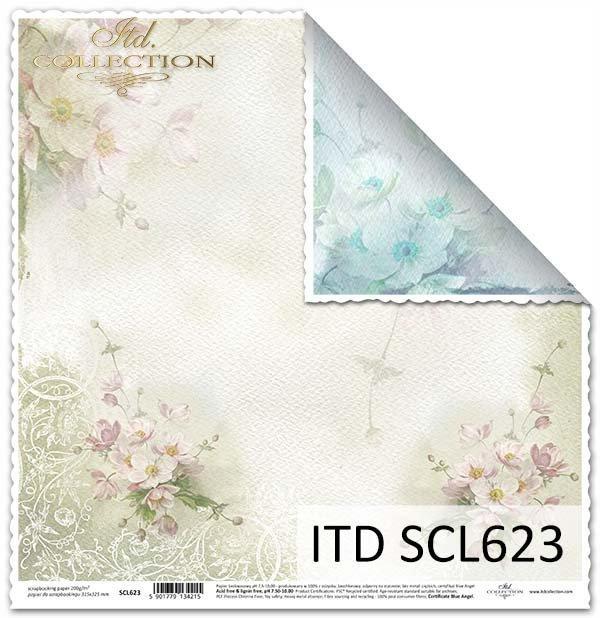 papier do scrapbookingu, bukiety kwiatów*Paper for scrapbooking, bouquets of flowers