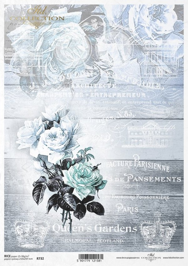 рисовая бумага для декупажа R0732