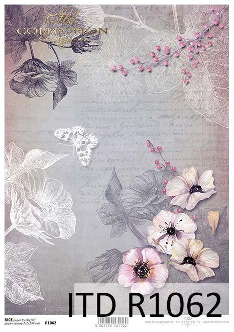 Papier do decoupage ryżowy*Paper for decoupage rice