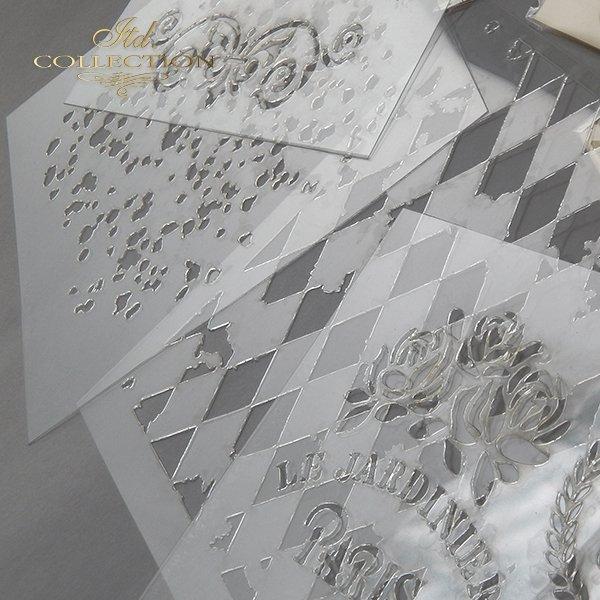 EXAMPLE - szablon do mix media stencil Schablone plantillas decoupage - 1