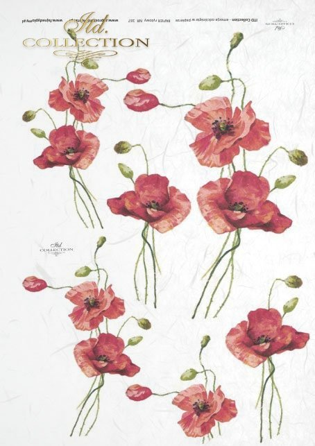 decoupage-scrapbooking-mixed-media-flowers-red-poppies-R0167