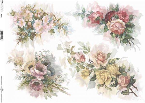 Arroz ramos de flores de papel de*Rýžový papír kytice květin*Reispapierblumensträuße von Blumen