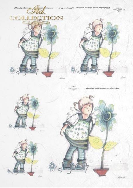 papier-ryżowy-decoupage-anioł-aniołek-aniołki-doniczka-kwiatki-ogrodniczka-Dorota-Marciniak-R0154