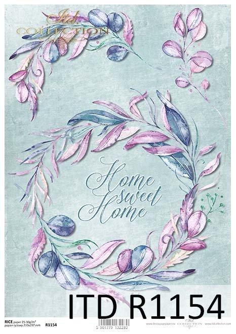 papier decoupage kwiaty, Sweet Home*Paper decoupage flowers, Sweet Home