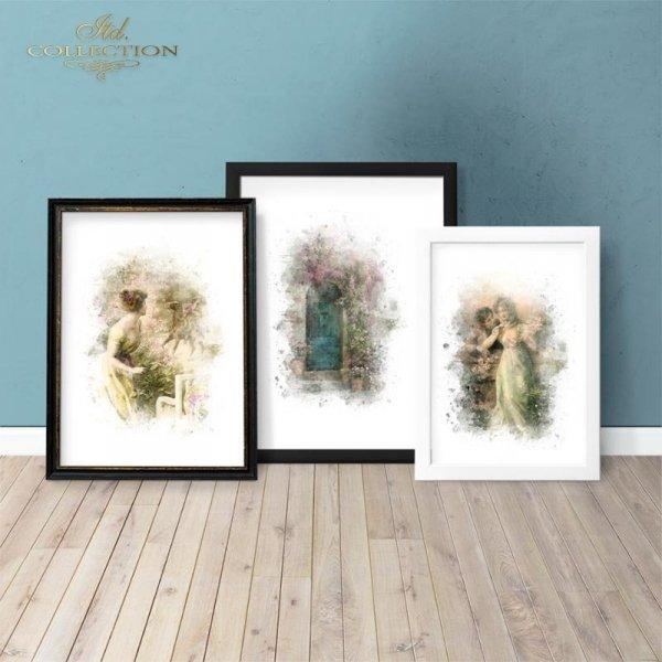 example-03-Papier-decoupage-retro-kobieta-romantyczna-drzwi-z-kwiatami*Paper Decoupage-retro-romantic-woman-door-with-flowers