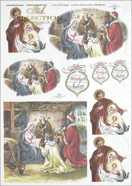 Christmas, Holy Familly, the three Magi,small stable, R271