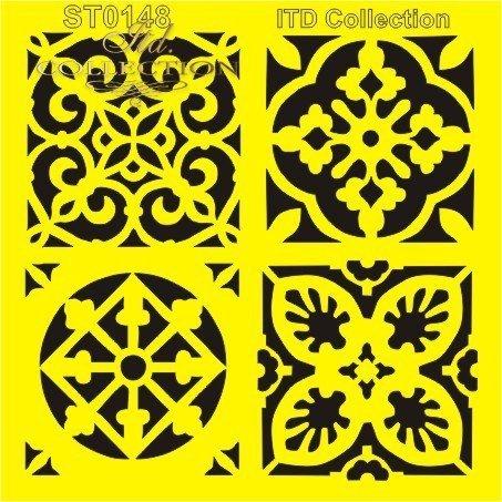 szablon do mix media stencil Schablone plantillas decoupage ST0148B - 1