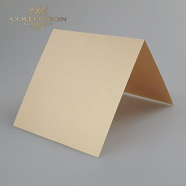 Baza do kartki kolor Kremowy-opalizujący. Format kartki stworzony do koperty 140x140 mm