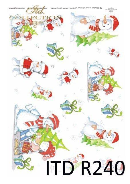 zima, Boże Narodzenie, zimowe motywy, bałwanki, wesołe bałwany, czerwone czapki, prezenty świąteczne, Dorota Marciniak