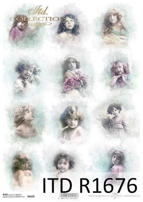 Engel, Kinder, Mädchen, Vintage*Ángeles, niños, niñas, Vintage*Ангелы, дети, девочки, Винтаж