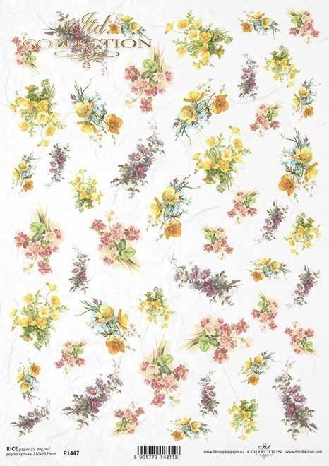 flores, primulas, caléndulas, pequeños elementos*Blumen, Primeln, Ringelblumen, kleine Elemente*цветы, примулы, бархатцы, мелкие элементы