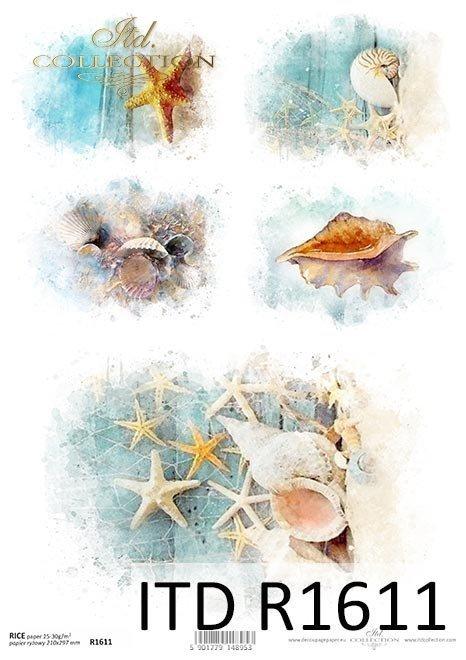 Mini Set - Ozean der Träume, Urlaub in den Tropen, tropische Reise*Mini set - Ocean of Dreams, vacaciones en los trópicos, viaje tropical*Мини-набор - Ocean of Dreams, отдых в тропиках, тропическое путешествие
