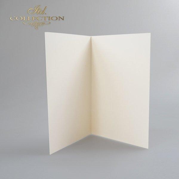 Заготовки для открыток BDK-003 кремовый цвет, слегка опалесцирующая бумага