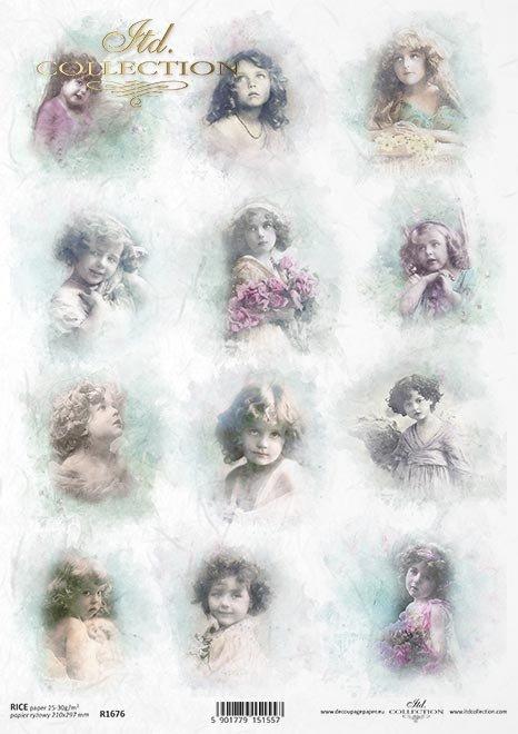 Aniołki, dzieci, dziewczynki, Vintage * Angels, children, girls, Vintage