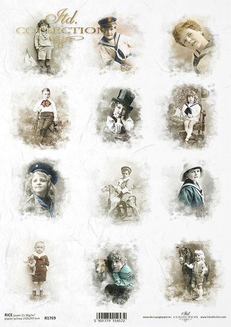zdjęcia retro, chłopcy, marynistyczne