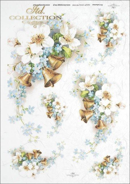 spring, apple blossom, apple tree, flowers, memorabilia, bell, bells, R360
