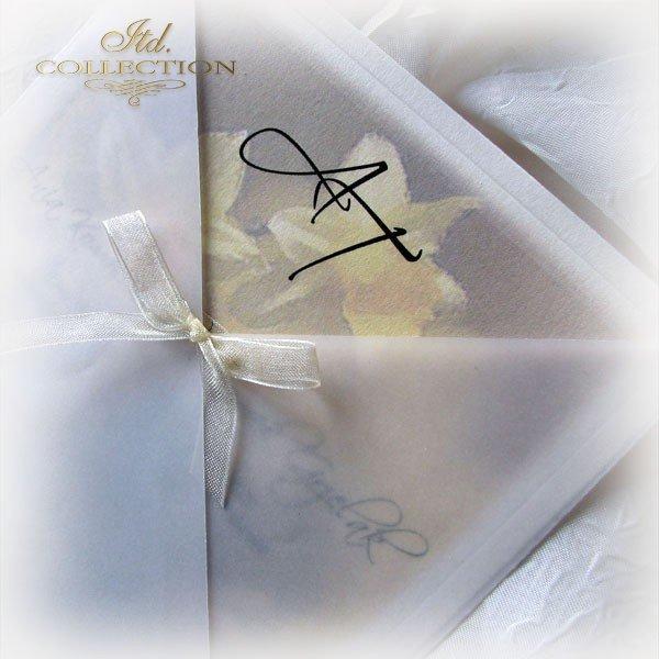 Einladungskarten / Hochzeitskarte 1721_Narzisse