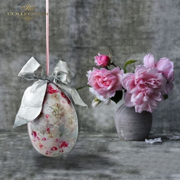 rice paper decoupage, decoupage paper, ITD Collection, papier ryżowy do decoupage, shabby chic * example - 3