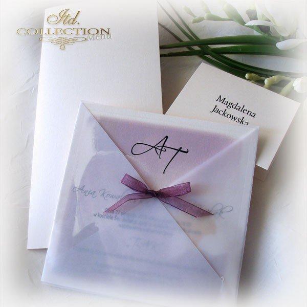 Einladungskarten / Hochzeitskarte 1721_Krokus