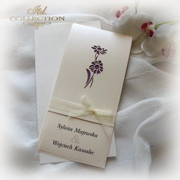 Invitations / Wedding Invitation 01722_72_violet