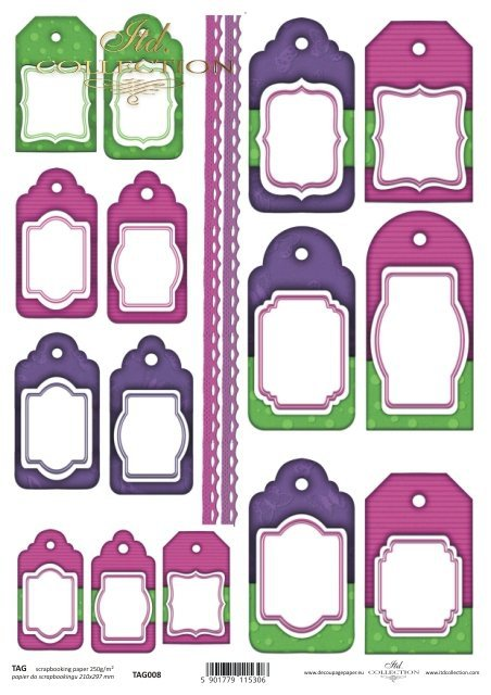 Tags, frames to scrapbooking TAG0008