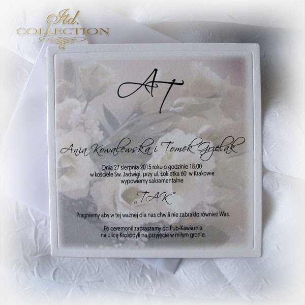 Invitations / Wedding Invitation 1721_eustoma