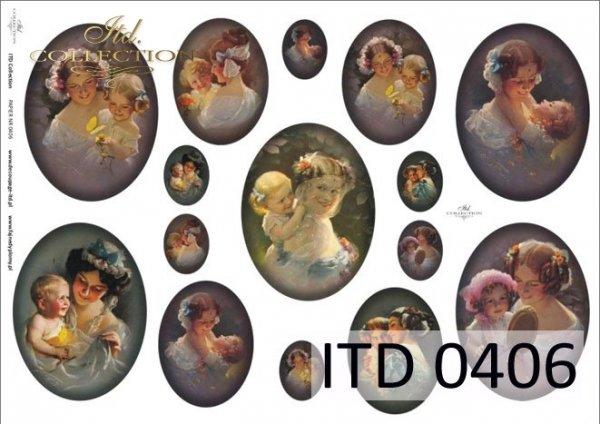 Decoupage Paper ITD D0406
