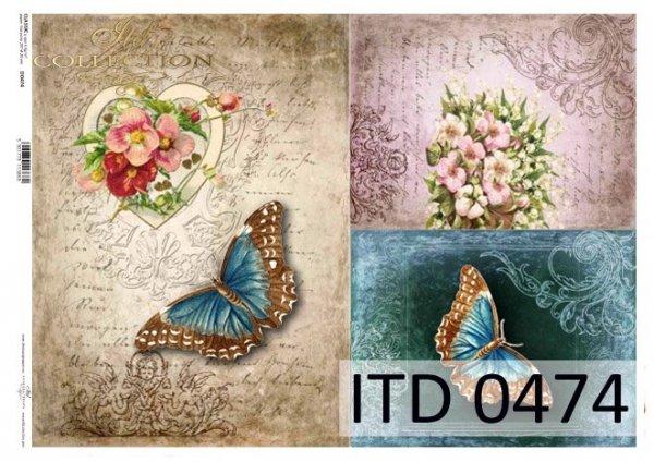 Decoupage paper ITD D0474M
