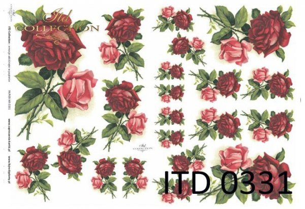 Decoupage paper ITD D0331