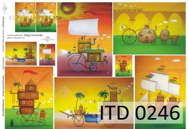 Decoupage paper ITD D0246M