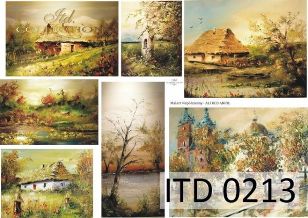 Decoupage paper ITD D0213M