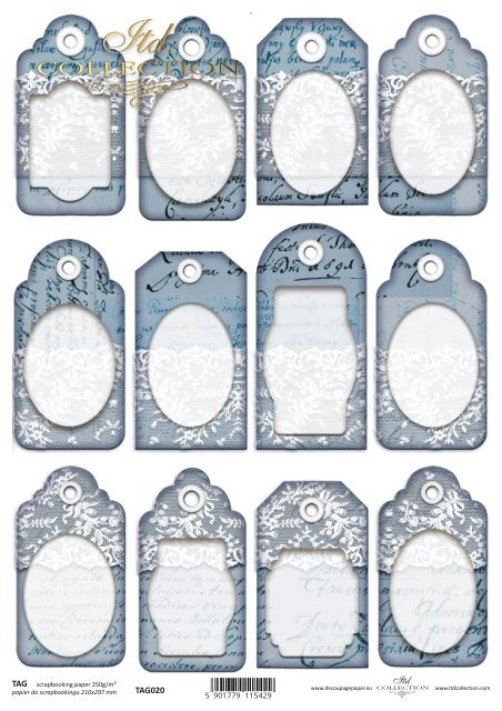 Tags, frames to scrapbooking TAG0020