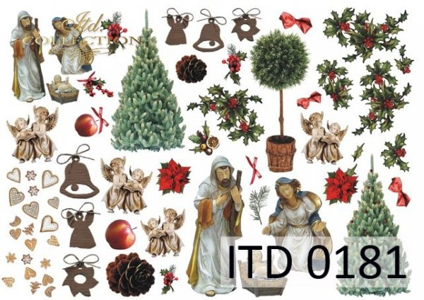 Decoupage paper ITD D0181M
