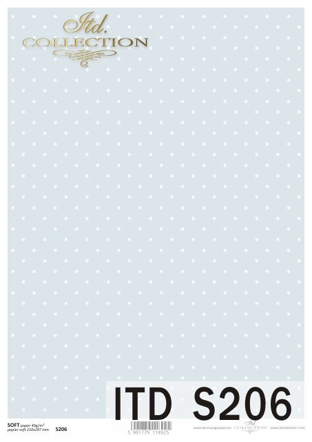 Decoupage paper Soft ITD S0206