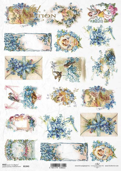 Easter. ITD Collection Set of 3 rice papers