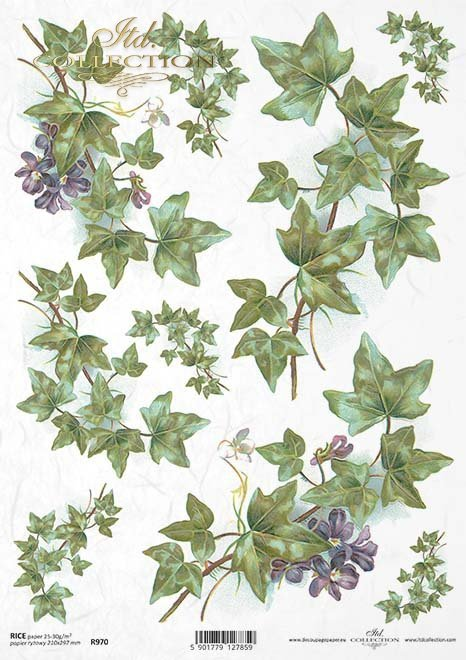 Rice paper r970 decoupage paper flowers ivy rice paper r0970 mightylinksfo