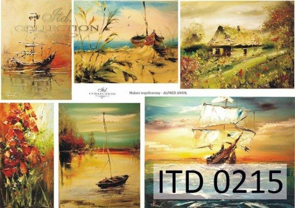 Decoupage paper ITD D0215M