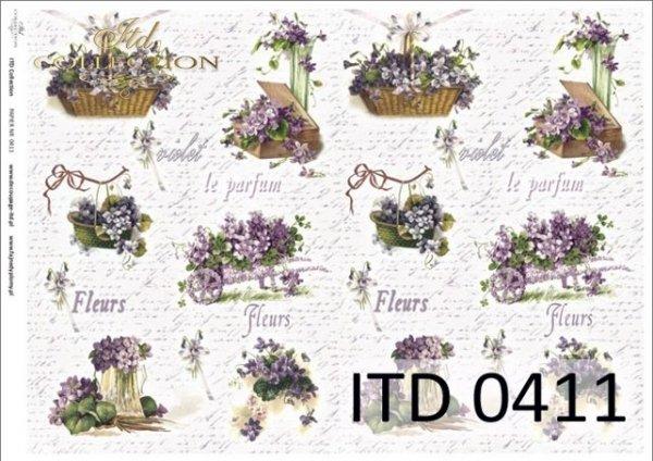 Decoupage paper ITD D0411M