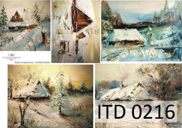 Decoupage paper ITD D0216M