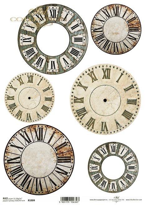 Tarcze zegarowe, tarcze retro, tarcze zegarowe z cyframi rzymskimi