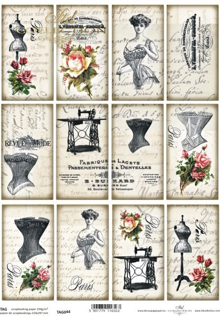 Tags, frames to scrapbooking TAG0044