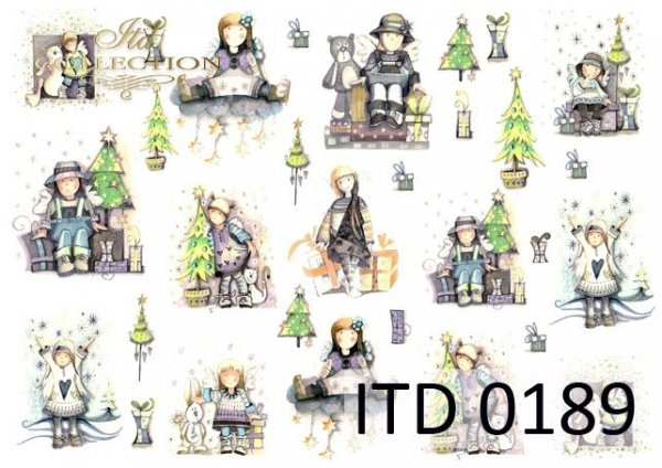Decoupage paper ITD D0189M