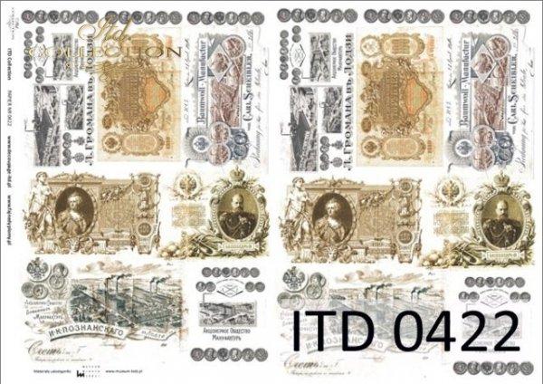 Decoupage paper ITD D0422M