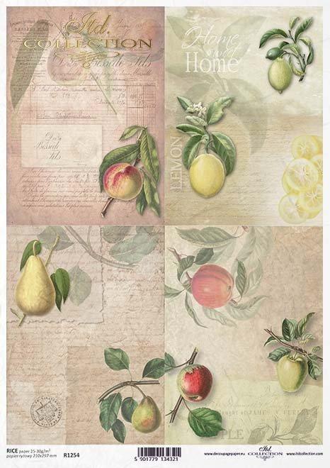 Papier decoupage Frucht*Бумага для декупажа*Fruta de decoupage de papel