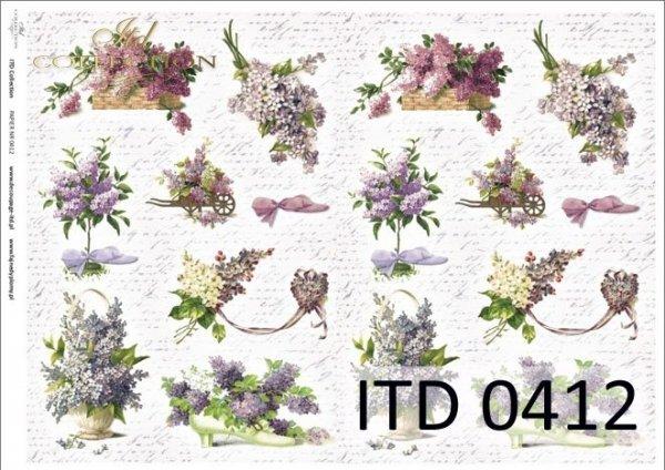 Papier decoupage ITD D0412